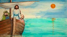 Jeesus tyynnyttää myrskyn puhumalla tuulelle. Ihmeellistä! Religion, Painting, Education, Life, Art, Bible, Art Background, Painting Art, Kunst