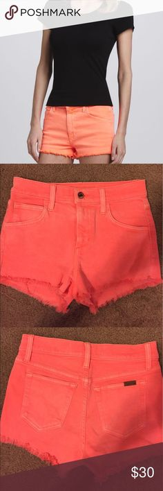 Joe's high rise shorts Joe's high rise shorts High-rise, cut off, highlighter orange shorts Joe's Jeans Shorts