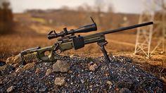 L96A1 Sniper rifle.