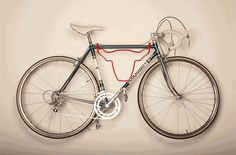 Make your bike rack double as art. | 33 Incredibly Easy Tricks To Vastly Improve Your Entryway