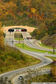 Cumberland Gap tunnel highway through a mountain. I go through this tunnel everytime I go to ky to visit family