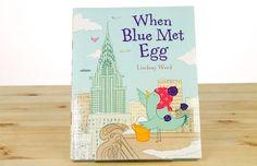 When Blue Met Egg by Lindsay Ward   Beautiful Cut Paper Book