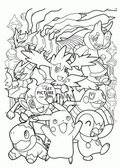 happy pokemon coloring pages for kids pokemon characters printables free wuppsycom - Coloring Pages Pokemon Characters