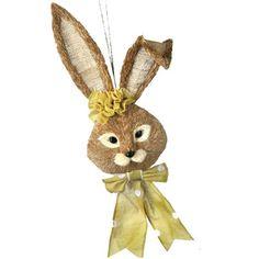 "Sisal+Bunny+Head+Wall+Hanging+Color:+Natural,+Green+Size:+22""+++"