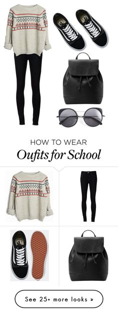 """""""School"""" by natalie2ruth on Polyvore featuring Ström, Vans, MANGO and Wood Wood"""
