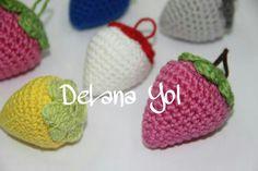 Fresas.  Patrón en www.lanasyovillos.es
