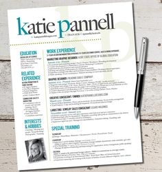 The Katie Lyn Signature Resume Template Design  by VivifyCreative, $64.00