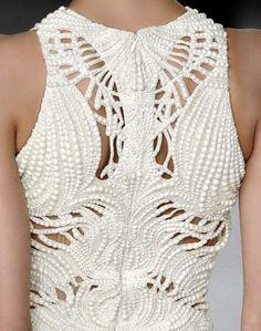 AMAZING sequin detail on this Alexander McQueen gown. #sequins #beads #alexandermcqueen