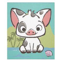 Moana | Pua the Pig Fleece Blanket | Zazzle