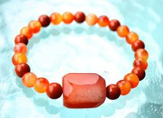 Red Jasper & Jade Handmade Mala Beads Nirvana Heal