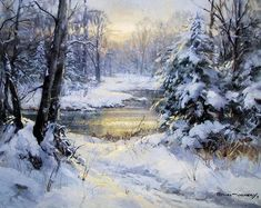 winter lndscapes, photos of - Yahoo Image Search Results Painting Snow, Winter Painting, Watercolor Landscape, Landscape Paintings, Landscapes, Winter Szenen, Snow Scenes, Arte Popular, Winter Landscape