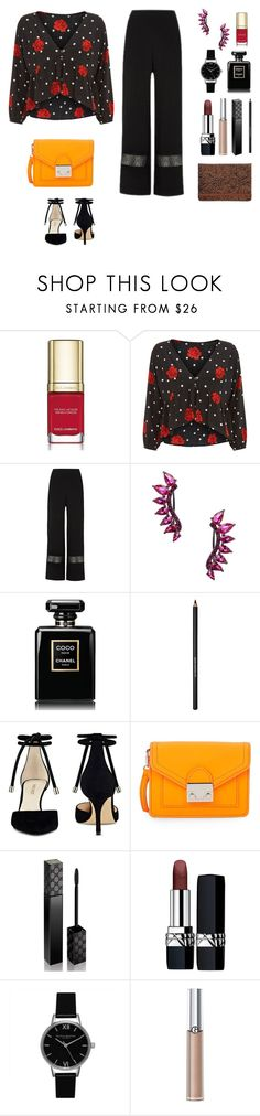 """""""Evening party"""" by diabolissimo ❤ liked on Polyvore featuring Dolce&Gabbana, Noir Jewelry, Chanel, Lancôme, Nine West, Loeffler Randall, Gucci, Christian Dior, Olivia Burton and Giorgio Armani"""