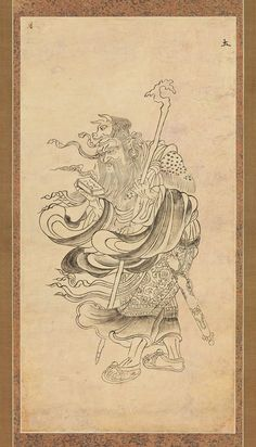 Iconographic Drawing of Saturn (Doyō) | 12th century | Japan http://met.org/1AcLjKH