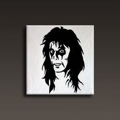 Alice Cooper Silhouette Painting By Kitty Svarfdal