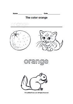 Orange Worksheet Twisty Noodle Color of the Week