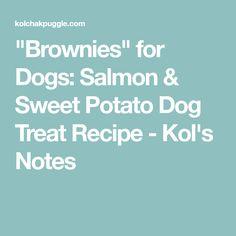 """Brownies"" for Dogs: Salmon & Sweet Potato Dog Treat Recipe - Kol's Notes"