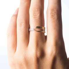 Crescent stacking rings
