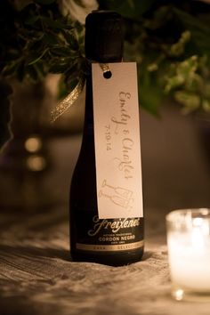 chic wedding favor; photo: Melani Lust Photography