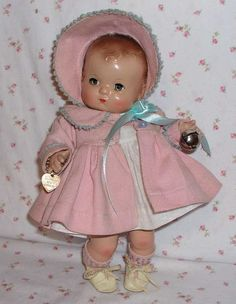 RARE Magnetic Hands -- 1940's EFFANBEE Patsy BABYkin TODDLER Doll