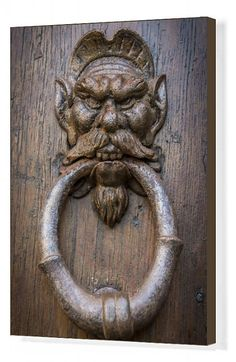 Print of Europe, Italy, Seravezza. A door knocker on the Villa Medici Fine Art Prints, Canvas Prints, Framed Prints, Door Knockers, Soft Pillows, Art Reproductions, Poster Size Prints, 500 Piece Jigsaw Puzzles, Photo Wall Art