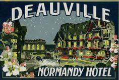 Artist Unknown poster: Normandy Hotel - Deauville (luggage label) |  Shop original vintage #posters online: www.internationalposter.com