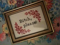 Subversive Cross Stitch. Naughty and hilarious patterns.