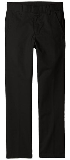 be09d78495d6 Nautica Kids Regular Fit Flat Front Pants (Big Kids) (Black) Boy s Casual