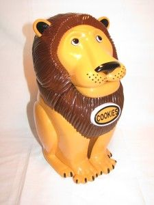 """Lion Cookie Jar This vicious lion will  say """"Get your hand out of my cookie jar."""" And gives a roar when the lid closes. Great cookie alarm. It will send you into a roaring giggle.This novelty Cookie Jar is made of durable high gloss plastic. http://theceramicchefknives.com/talking-cookie-jar/ Fireman Talking Cookie Jar, Lion Cookie Jar, Lion Talking Cookie Jar, Nickelodeon Spongebob Squarepants Talking Cookie Jar, Novelty Cookie Jars, singing cookie jars, Singing Treat Jar CAT Song: Pussy…"""