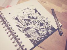 Nendaz, Suisse, impro drawing #Nendaz #illustration #blackandwhite #sketchbook #pleasure #creative #drawing #Suisse #__vebe__