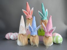 Easter Bunny Gnome Easter gnome Spring gnome Tomte Nisse Scandinavian doll Swedish farmhouse decor T Easter Bunny Eggs, Bunnies, Family Christmas Ornaments, Easter Gift, Easter Decor, Easter Crafts, Bunny Tail, Patriotic Decorations, Valentine Day Gifts