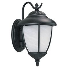 Sea Gull Lighting 84050-185 Yorktowne 1 Light 16 inch Forged Iron Outdoor Wall Lantern