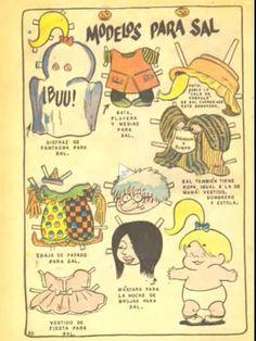 Sheldon Mayer's comic book series, Sugar and Spike (DC, 1954–71) - Modelos Para Sal paper doll