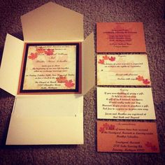 homemade wedding invitations and rsvps's, spent around $50 for, Wedding invitations