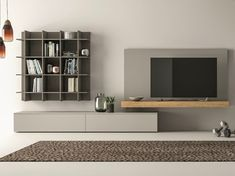 Mueble modular de pared composable SLIM 111 by Dall'Agnese
