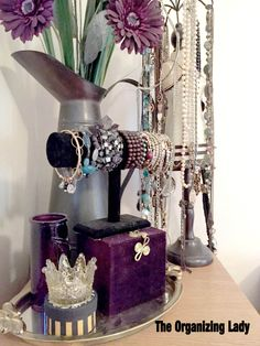 Cyndi Seidler decided to share some of her own decorative chachkies (trinkets) that provide organizing solutions in her own home. Closet Organization, Jewelry Organization, Own Home, Organizing Solutions, Home Projects, Gadgets, Women Jewelry, Declutter, Organize