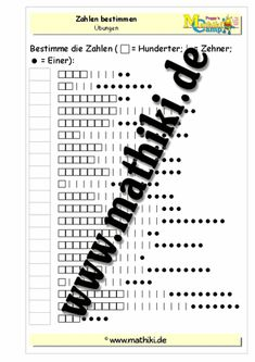 Zahlen bestimmen bis 1000 - ©2011-2016, www.mathiki.de - Ihre Matheseite im Internet #math #arbeitsblatt #worksheet