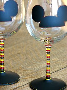 mickey hat chalkboard wine glasses from Chic Chalk Designs