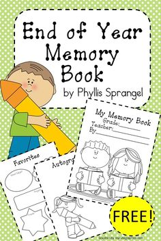 This is an End of the Year Memory Book for students to collect some school memories and autographs from their friends. Free!