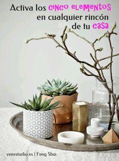 """""""Activa los cinco elementos en cualquier rincón de tu casa"""" Feng Shui, el arte…"""