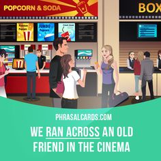 """Run across"" means ""to meet or find accidentally"".  Example: We ran across an old friend in the cinema."