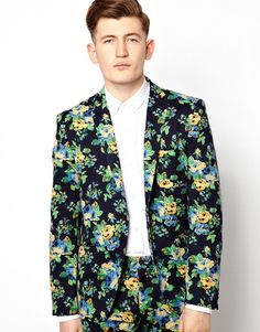 Vito Suit Jacket In Floral