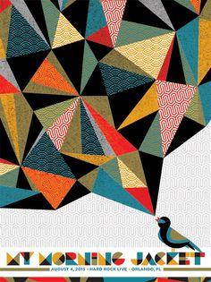 My Morning Jacket. Poster design: Nate Duval (2015).