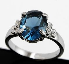white gold blue sapphire wedding ring