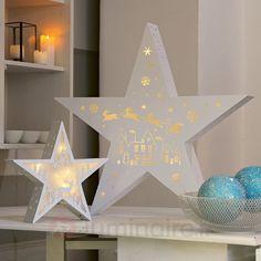 Étoile holographique LED Père Noël et traîneau, référence 4523423- Décoration, DIY et lumière de Noël chezLuminaire.fr!