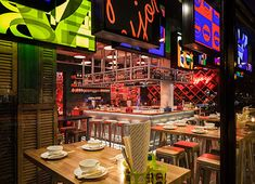 A new street food-inspired restaurant by chef/restaurateur Julius Jaspers (Julius Bar & Gril), Happyhappyjoyjoy is influenced by the famous chef's frequent travels to Asia.