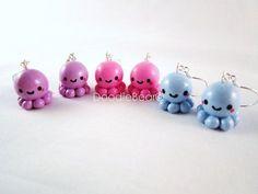 Kawaii Clay Charms | Cute Octopus Kawaii Polymer Clay Charm ... | polymer pendants, charms ...