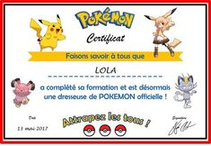 Super-Zouzou et… son anniversaire Pokemon… #2 : les diplômes Diy Pokemon, Pokemon Party, Pokemon Birthday, Minecraft Party, Party Activities, Birthday Party Themes, Champagne, Kids, Gatos