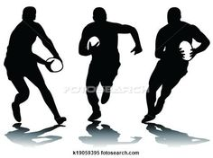 Clipart of three rugby silhouette k19059395 - Search Clip Art, Illustration Murals, Drawings and Vector EPS Graphics Images - k19059395.eps