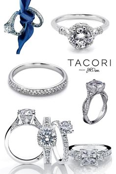 Tacori Engagement Rings from JR Dunn #Rings #Jewelry #Wedding | For more beautiful rings see:        http://www.wedding-rings-specialists.com