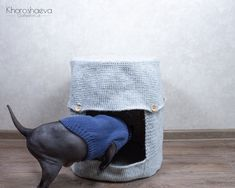 Crochet Pet House for IKEA Stool Cat and Dog Cave Crochet | Etsy